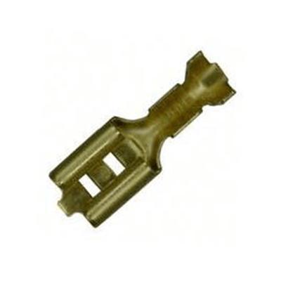204-601LR Ακροδέκτης γυμνός συρταρωτός θηλυκός με ασφάλεια 6.3-2.5